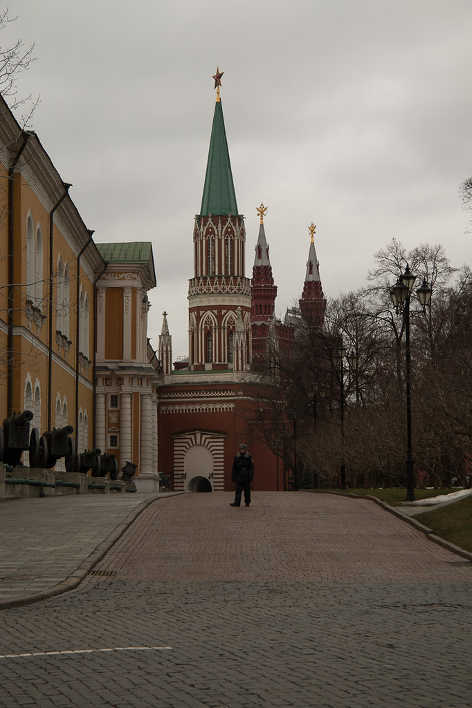Touring the Kremlin in Moscow, Russia