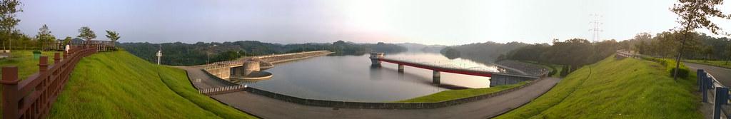 寶山第二水庫晨景