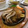 #Chicken and #pork #hotplate #dinner.