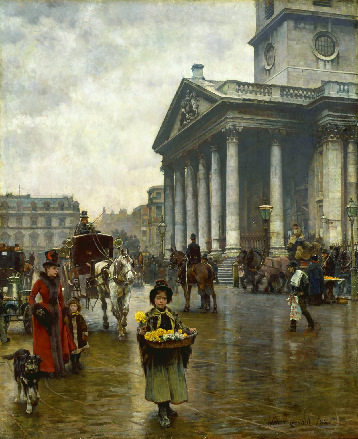 St Martin-in-the-Fields by William Logsdail, 1888