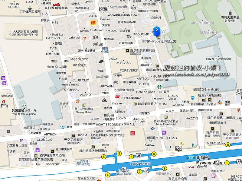 明洞店地圖