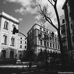 The #streets of #madrid in #blackandwhite #blackandwhitephotography #photography #light #historic #city #centre #architecture #buildings #visitamadrid #visitmadrid #españa #igespaña #wanderlust #travel #travelgram #guardiancities #guardiantravelsnaps #cit