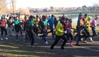 SILVESTROVSKÝ BĚH BENEDIKT MOST 31.12.2015 6 km