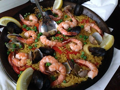 Seafood paella at Picaro in the Mission