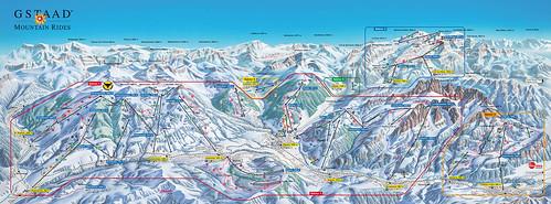 Gstaad - mapa sjezdovek