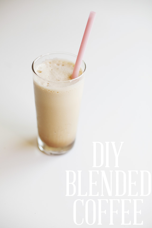 DIY Blended Coffee - Recipes with almond milk