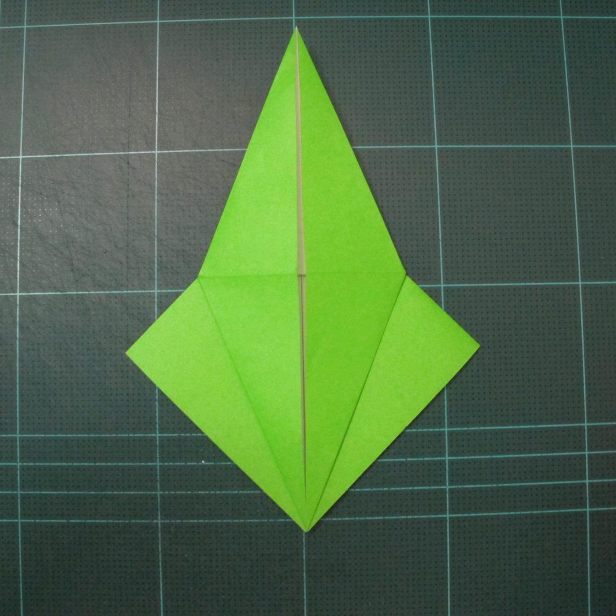 วิธีพับกระดาษเป็นรูปหอยทาก (origami Snail) 004
