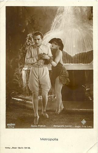 Gustav Fröhlich and Margarete Lanner in Metropolis (1927)