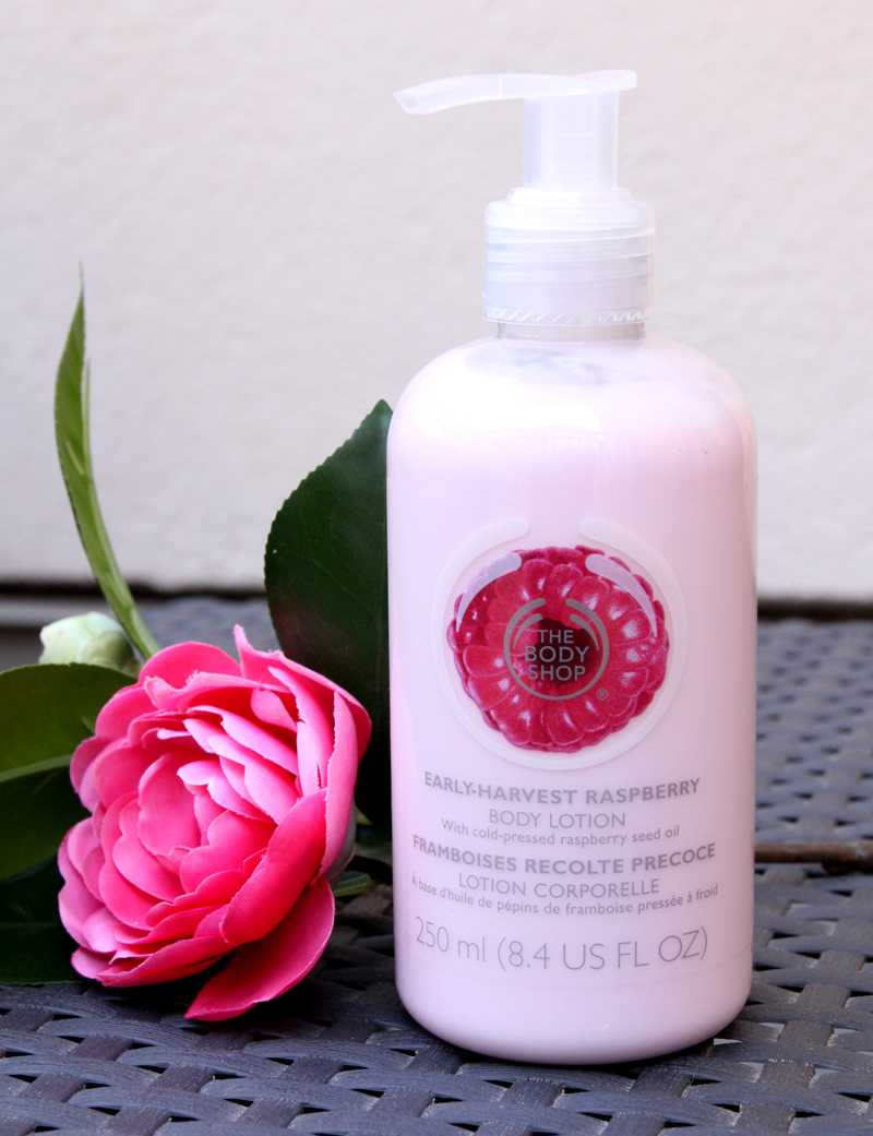 TBS early-harvest raspberry body lotion