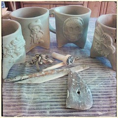 Thinking of October #ceramics #mugs #dayofthedead