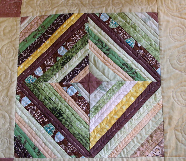 String block - quilted