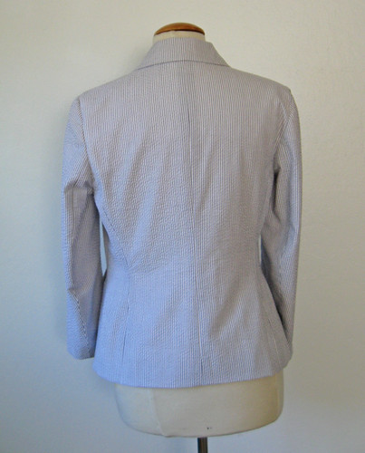 Seersucker jacket back view