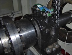 Propulsion Shaft to Main Engine - Pedastal Bearing Completed Installation