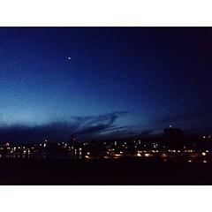 [156/365] #seattle #washington #pugetsound #lights #plane #sunset