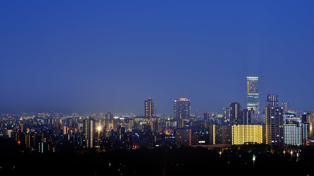 Cityspace of Osaka in the night (大阪の夜景)