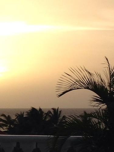 sunset horizon warmth jamaica