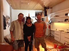 David, Colette, and I in Colette's studio.