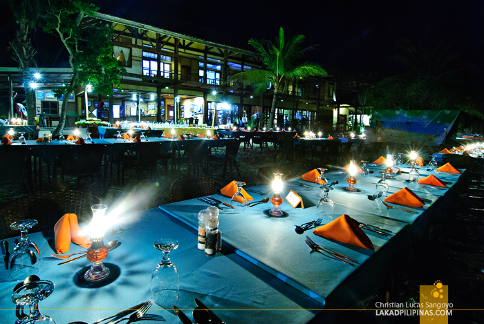 Beachside Dinner at El Rio y Mar Resort in Coron, Palawan