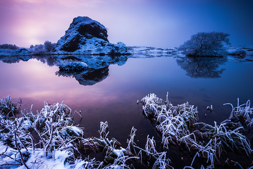 travel winter sunset lake snow ice nature water colors fog reflections season landscape iceland twilight europe purple cloudy dusk foggy nordic northeast ísland halflight mývatn republicoficeland lakemývatn norðurlandeystra lýðveldiðísland northeasternregion