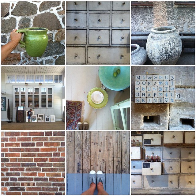 Skåne - trä - sten - keramik - tegel