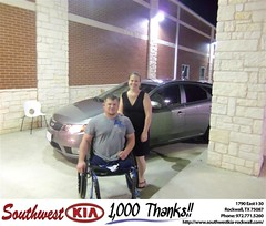 #HappyAnniversary to Thomas Vandeventer on your 2012 #Kia #Forte from Randall Lawrence Jr at Southwest KIA Rockwall!