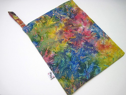 Rainbow Batik Wet Bag