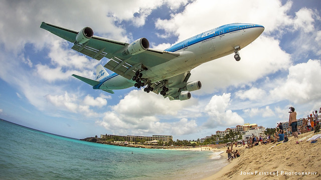 Queen of the Skies Gracing Maho Beach