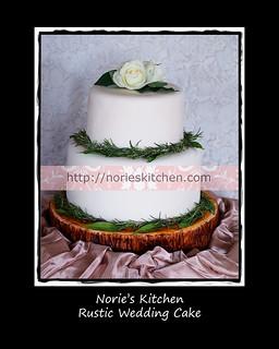 Norie's Kitchen - Rustic Wedding Cake