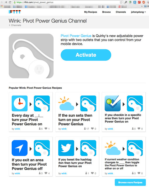 IFTTT+Pivot Power Genius