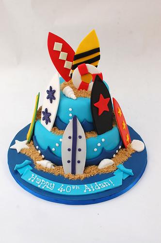 Surfing Cake Beautiful Birthday Cakes