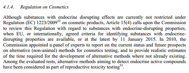 EC Endocrine disruptor document