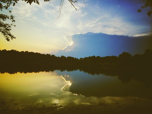 park sunset shadow sky cloud lake color apple nature water mobile landscape md cellphone maryland greenbelt ios vsco iphone5s vscocam