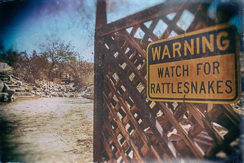 california usa sun hot sign stairs fence sand nikon desert bright steps dirt coachellavalley d200 hdr lattice deserthotsprings hff riversidecounty cabotspueblomuseum fencefriday fencedfriday hbmike2000 warningwatchforrattlesnakes yerxacabot