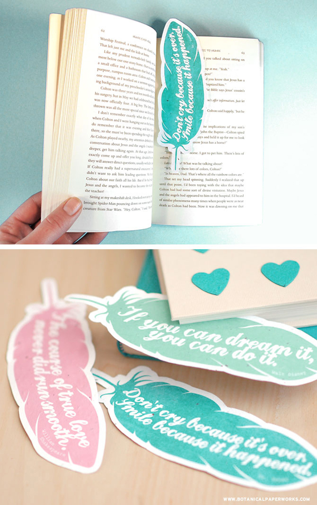 6-Feather-Quote-Bookmarks