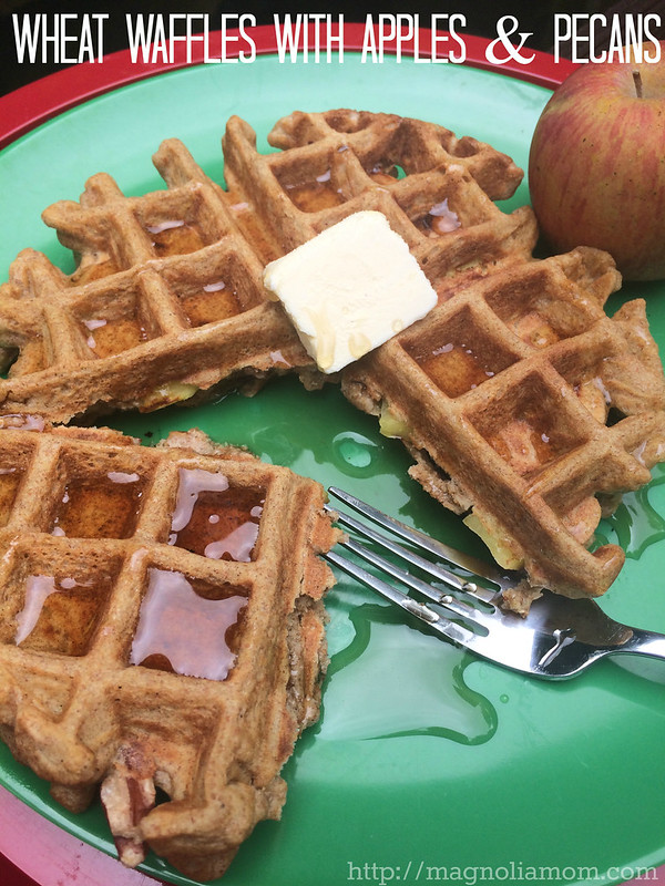 Wheat Waffles with Apples & Pecans