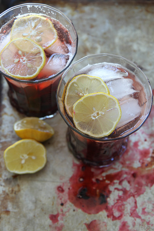 Roasted Cherry bourbon Smash