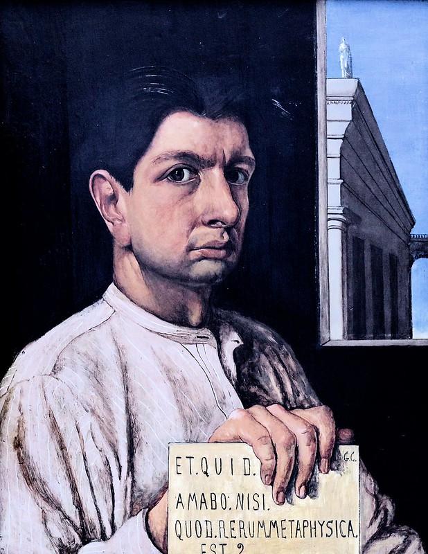 IMG_0504  Giorgio de Chirico. 1888-1978 Autoportrait. 1920. Munich.  Pinakothek der Modern.
