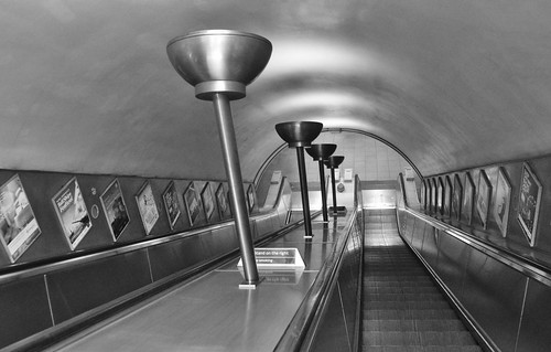 Oval Tube Station Escalators, London, SW9, July 2014