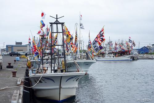 【86日目】漁船に神輿と餅投げ!進撃のオバちゃん(北海道)