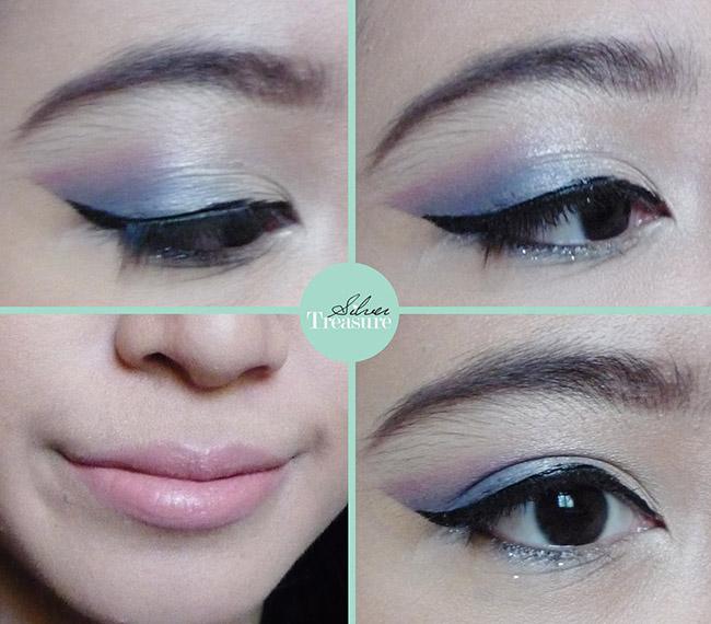FOTD] Blue - Pink Makeup Tutorial | Silver Treasure - Beauty on a ...