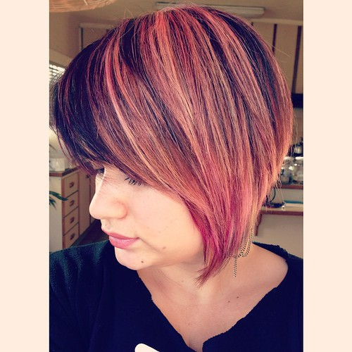 New Hair by ROZ #rozhairdesign used #manicpanic from @anonamissgabbi ON THE BLOG later this week! #anonnamiss #hair #pinkhair #pink #pinkchampagne #salmonhair #salmon @manicpanicnyc #style #newnair #hairdresser #dye #manicpanic #anonamiss #pink #diy #sa #
