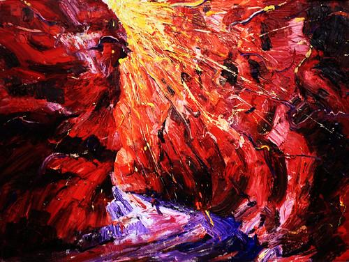 10.和丽斌作品《逐日·光之舞》布面油画 200×150cm 2013年