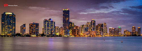 longexposure travel sunset reflection florida miami dusk eastcoast downtownskyline traveldestination canon60d nikfilter adobecc lightroom5 cmonsoonphoto