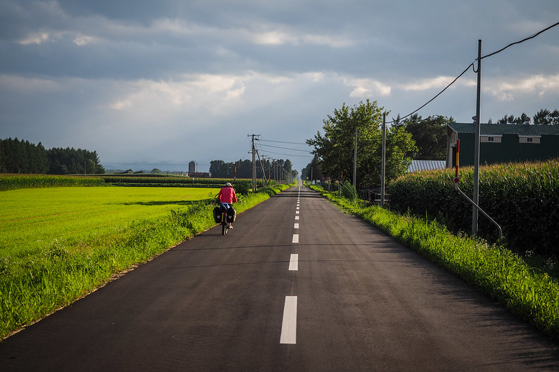 Quiet country lanes in the Tokachi region, Hokkaido, Japan