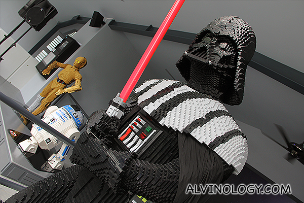 Life-size Darth Vader, C3PO and R2D2