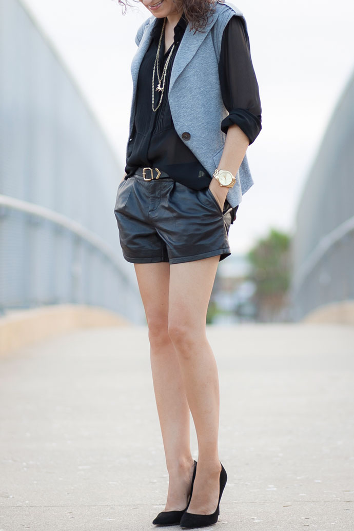 Slouchy Leather Shorts