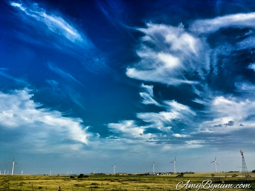 There's a dragon in the sky over these Kansas windmills!