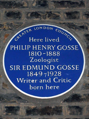 Photo of Philip Henry Gosse and Edmund Gosse blue plaque