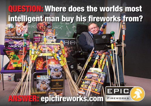 Where Does The World's Most Intelligent Man Buy His Fireworks From?