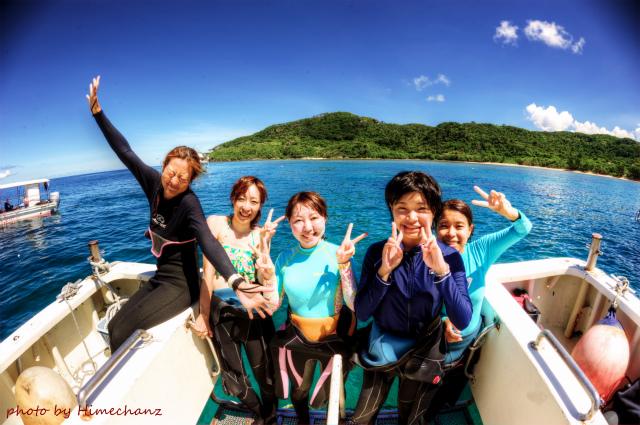 ステキな海況の中、記念撮影♪ 2014/08/25